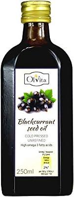 Blackcurrant Seed Oil, Cold-Pressed and Crude Ol'Vita (250 ml)
