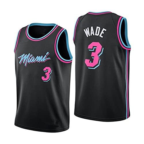 CGXYHLZ Dwyane Wade # 3 - NBA Miami Heat Jersey Hombre Adulto Transpirable Resistente al Desgaste Camiseta de Baloncesto Camiseta para Hombre, Swingman Basketball Camiseta Sin Mangas