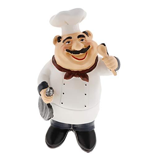 F Fityle Chefkoch Küchenchef Koch Figur Dekofigur Sammelfigur für Küche Restaurant Cafe Bäckerei - Größe-3