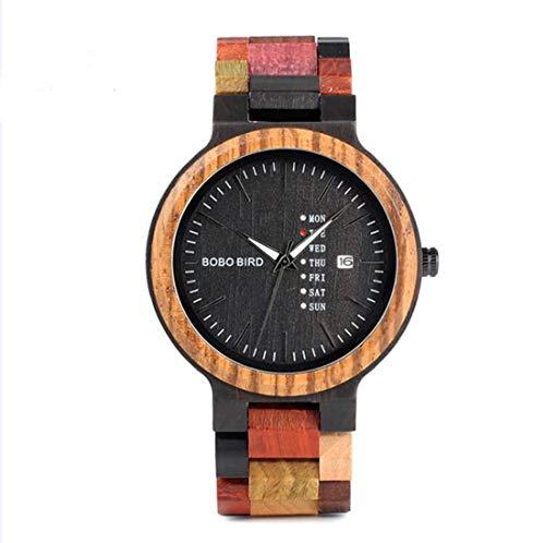 Bobo Bird Women Reloj De Pulsera Casual-Fashion Wood Quartz Analogous P14