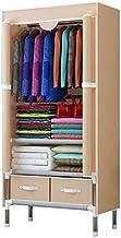 XDDDX Bedroom Multipurpose Simple Combination Wardrobe Folding Portable Clothing Storage Cabinet Dustproof Cloth Closet Ho...