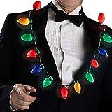 Collar de Navidad con luz LED Collar de Bombilla de Navidad Favores de Fiesta para Adultos o niños Vacaciones