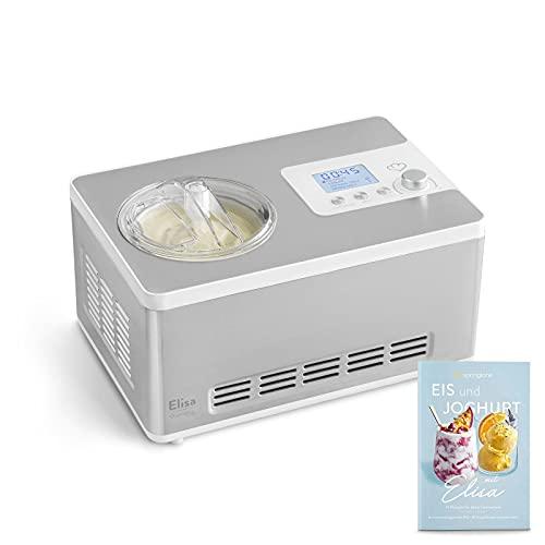 Gelatiera e Yogurtiera ELISA 2 in 1 con Compressore Autorefrigerante, 180W, 2L, Macchina...