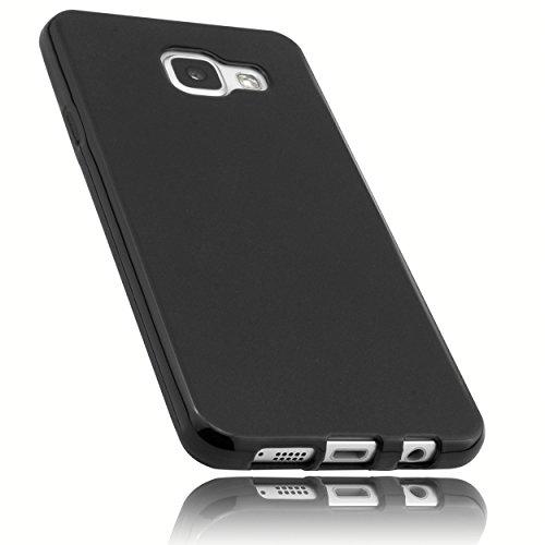 mumbi Hülle kompatibel mit Samsung Galaxy A3 2016 Handy Hülle Handyhülle, schwarz