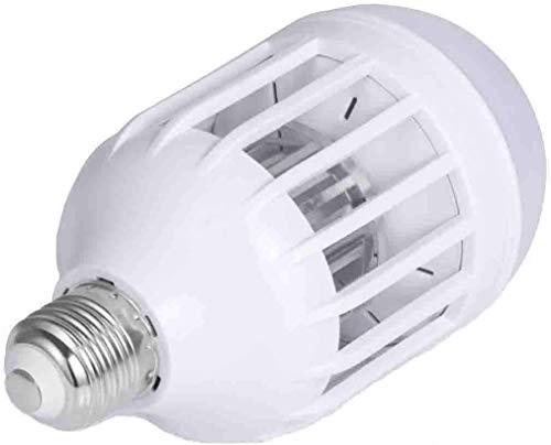 Quitamanchas eléctrico antimosquitos, lámpara antimosquitos LED de 15 W, 1000 lm, cebo electrónico antimosquitos para camping (blanco)