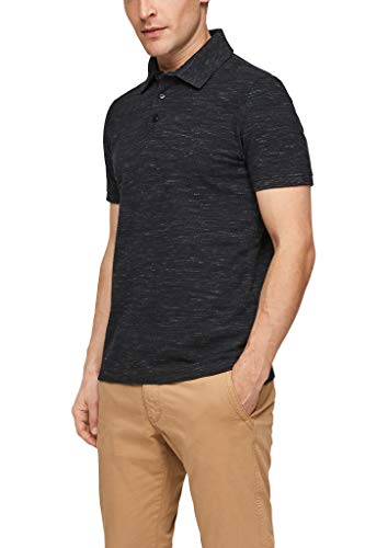 s.Oliver Herren 130.10.103.13.130.2100852 T-Shirt, Black Melange, XL