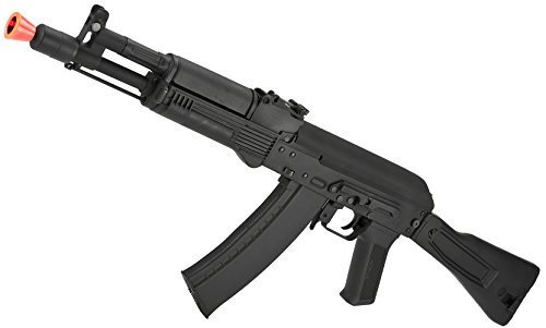 Evike Airsoft - CYMA Standard Stamped Metal Airsoft AK-105 AEG Rifle with Synthetic Folding Stock (Package: Gun Only)