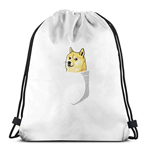 Chezaskee Drawstring Bags Classic Men and Women Sports Backpack Storage Bag Travel Beach Bag - Radical Ed Smiley Face