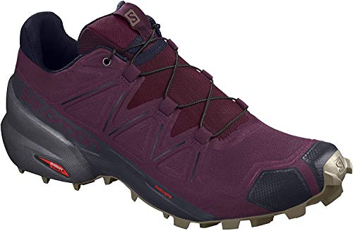 Salomon Women's Speedcross 5 Trail Running Shoes, Potent Purple/Ebony/Burnt Olive, 9.5