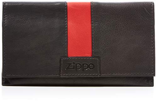Zippo Herren Zweifachgefalteter Tabakbeutel Rot Geldbörse, Braun (Mokka), 1x9x16 cm
