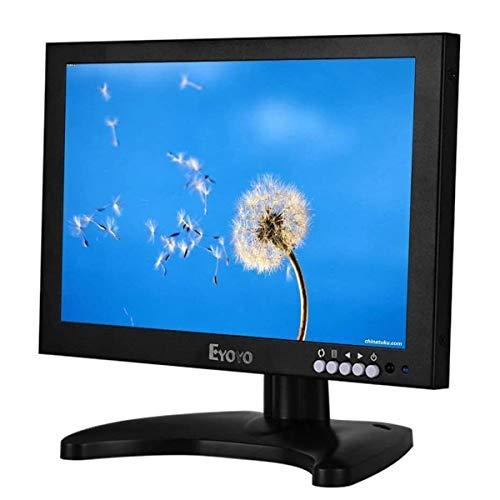 Eyoyo 10 Pulgadas IPS LED Full HD Monitor con HDMI BNC VGA USB Función y Altavoz (10 Inch 1920x1200)