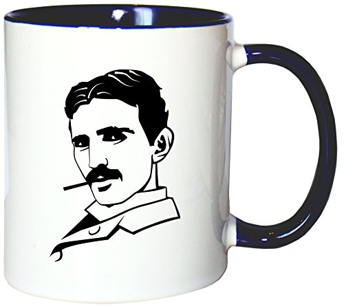 Mister Merchandise Kaffeetasse Becher Nikola Tesla Teetasse