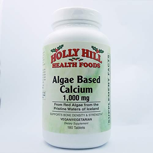 Holly Hill Health Foods Algae Based Calcium 1,000 mg, 180 Tablets