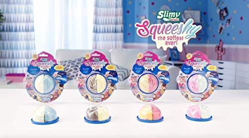Joker Entertainment SL32210 Slimy Squeeshy Icecream serie, geur 4 gesorteerd, munt & vanille, banaan & chocolade, mango & Cherry