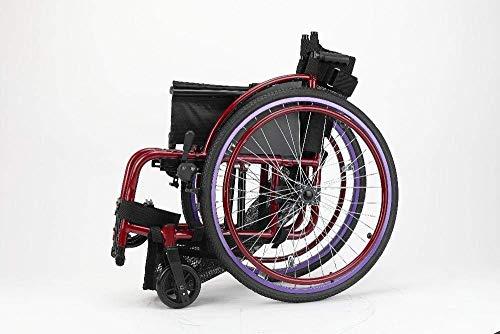 Rollstuhl Klappanleitung/Sport Rollstuhl Behinderter Roller - Lila Ergonomisch geeignet für ältere Menschen und Reisende