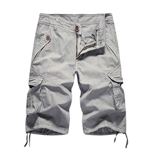 Limsea Fashion Mens Casual Pocket Beach Work Casual Short Trouser Shorts Pants