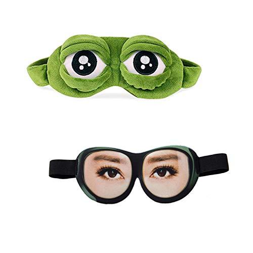 YouU Máscara del sueño Gafas de Sueño Rana, 3D Parodia con Los...