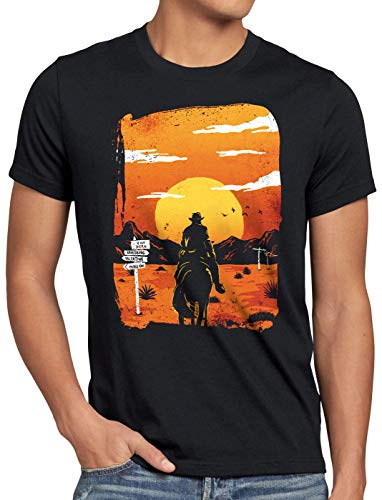 A.N.T. Wild West Outlaw Herren T-Shirt rdr2 Arthur Morgan, Größe:S
