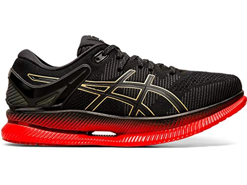 ASICS Men's MetaRide Running Shoes, 9M, Black/Classic RED