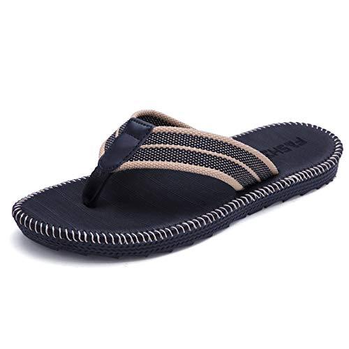 N-B Verano Pareja Hombres Y Mujeres Moda Tendencia Flip Flops Inicio Zapatillas Antideslizante Playa Costura Fresca Estudiante Clip Zapatillas Al Aire Libre Antideslizante Sandalias Casual