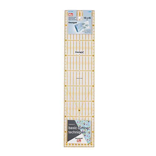 Prym Universal 10 x 45 cm Omnigrid Lineal, Kunststoff, transparent