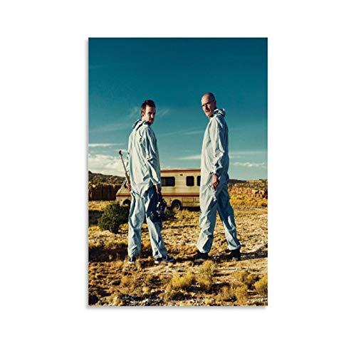 xiaoxiami Poster, Motiv: Breaking Bad, weißer Anzug, dekoratives Gemälde, Leinwand, Wandkunst, Wohnzimmer, Poster, Schlafzimmer, Gemälde, 40 x 60 cm