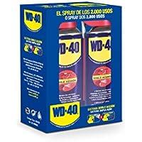 WD 40 Producto Multi-Uso Doble Acción - Spray 400ml - Pack x2 - Aplicación amplia o precisa. Lubrica, Afloja, Protege del óxido, Dieléctrico, Limpia metales y plásticos y Desplaza la humedad