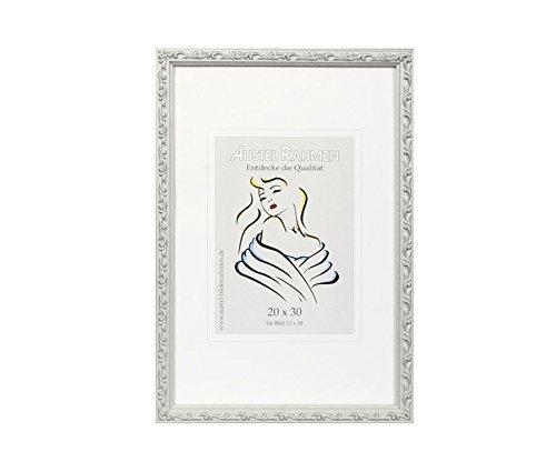 Classic Frame Holz Bilderrahmen in 13x18 bis 40x60 cm Weiß Silber Braun: Farbe: Silber | Format: 15x20