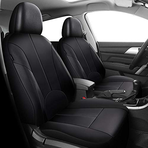JU&MU Juego de fundas de asiento de coche universal para asiento de conductor y pasajero con airbag lateral para E30 E36 E46 E90 F30 E39 E60 F10 F11 X3 X6 W203 W204 W205 W211 GLA GLC GLK ML