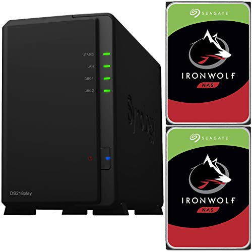 Synology DS218play 2-Bay DiskStation NAS Bundle with 6TB (2 x 3TB) of Seagate Ironwolf NAS Drives Fully Assembled and Tested by CustomTechSales …