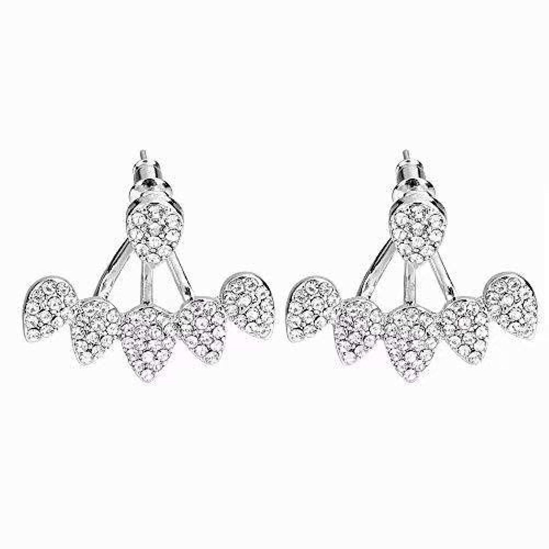 傷つけるお勧め感性Big Bargain Store かわいい甘いラブリーイヤリング 女性のためのファッションホット スタッドピアス Earring3-Silver