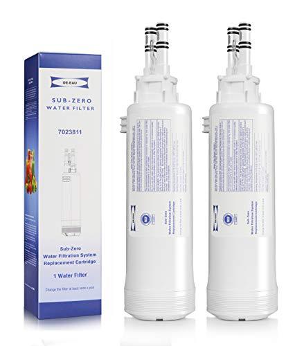 7023811 Wasserfilter Ersatz kompatibel mit Sub-Zero 7023811 Kühlschrank Wasserfilter (2 Stück)