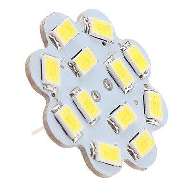 G4 12x5630 SMD 6W 500-560lm 6000-6500K Blanco Natural Light Lotus Vertical Pin con forma de bombilla LED Spot (12 V)