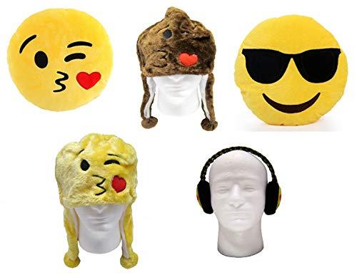 emoji 5pc Pillow Beanie Earmuffs Pack A