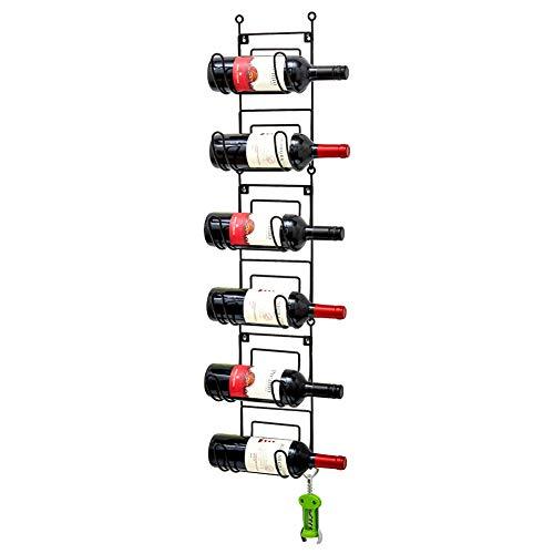 EZOWare Portasciugamani da Parete, Porta Asciugamani da Appendere 6 Ripiani Salvaspazio Multiuso a 6 Piani per Asciugamani Arrotolati, Bottiglie di Vino, Espositore Portaoggetti - Nero