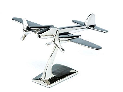 Alluminio Modello di aeromobile Modello di Aereo scrivania di Metallo Argento