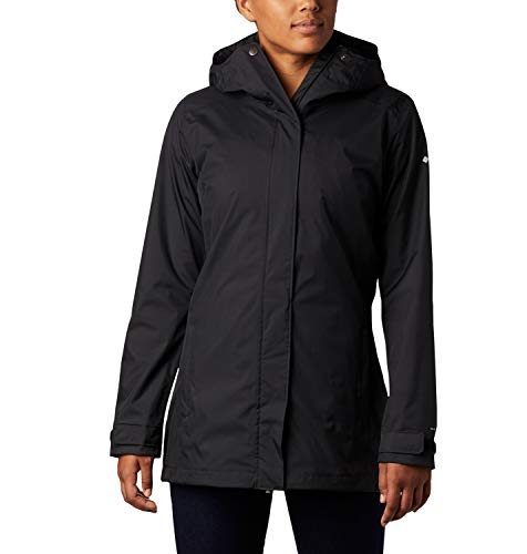 Columbia Splash A Little II, Chaqueta impermeable, Mujer, Negro, M
