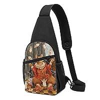 ボディバッグ ワンショルダー 斜めがけバッグ ジャグリング 猫 ネズミ プリント ワンショルダーバッグ ボディーバッグ メンズ レディース 軽量 大容量 通勤通学旅行