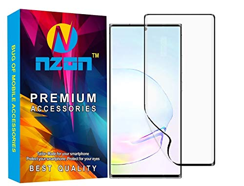nzon Samsung Galaxy Note 20 Ultra Screen Protector Front [Full Coverage] Samsung Note20 Plus 6.9 Inch 3D Curved Screen Protective Film [Bubble-Free] Galaxy Note 20 Ultra Clear Screen Guard (Black)