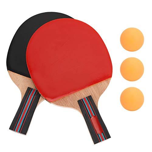 Wosune Bate de Tenis de Mesa, Equipo Deportivo de Madera + Caucho, 24 * 14,5 * 0,25 cm para Entretenimiento para Principiantes Entrenamiento Profesional Escolar