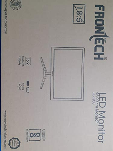 Frontech 18.5 inch (47 cm) LED Monitor with VGA,HDMI Ports FT-1988