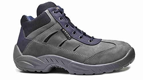 Base Protection, GREENWICH Calzado de Seguridad para Hombres y Mujeres, Gris y Azul, Talla 40