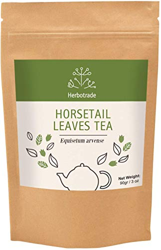 100% Pure Horsetail (Equisetum arvense) Dried Leaves Natural Wildcrafted Herbal Tea (Loose) 3 oz / 90gr by Teliaoils in Resealable Pouch