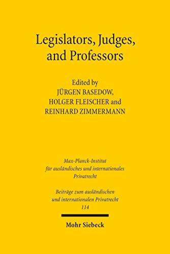 Legislators, Judges, and Professors (Beiträge zum ausländischen und internationalen Privatrecht Book 114) (English Edition)