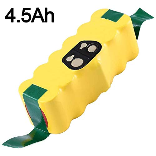 4.5Ah 14.4V Ni-Mh Replacement Battery Compatible with iRobot Roomba R3 500/600/700/800/900 Series 500 510 531 535 540 550 552 560 570 580 595 620 650 660 700 760 770 780 790 800 870 900