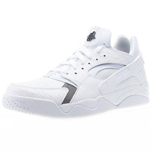 Nike Air Flight Huarache Low Scarpe da Basket Uomo, Bianco/Argento (White/Black-Pure Platinum) 43 EU