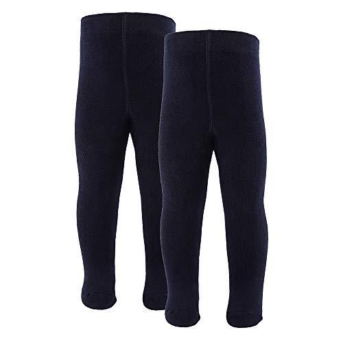 inibini 2er Pack Babystrumpfhose für Mädchen und Jungen, MADE IN EUROPE, Strumpfhose 98% Baumwolle Uni Basic Doppelpack