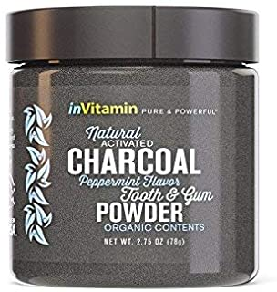 Whitening Tooth Powder with Activated Charcoal for Teeth and Gums (Cool Peppermint) - Safe on Enamel, Detoxifying, Plant-B...