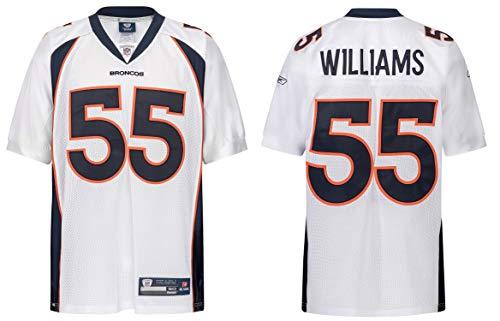 Reebok NFL Denver Broncos DJ Williams #55 weiß Trikot Jersey Onfield Authentic (52 (XXL))