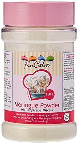FunCakes Merengue en Polvo Listo para Usar de Color Blanco Sin Azúcar y con Claras de Huevos de Gallinas Criadas en Libertad, 42397, 150 Gramos